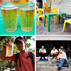 Vietnam cuisines - Cheapest beer in the world – 'bia hoi' in Vietnam (16 cents a glass)
