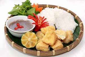 "Vietnam Cuisines - Favorite snack in Hanoi - ""Bun Dau"""
